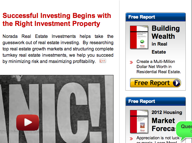 real estate investor free report sample