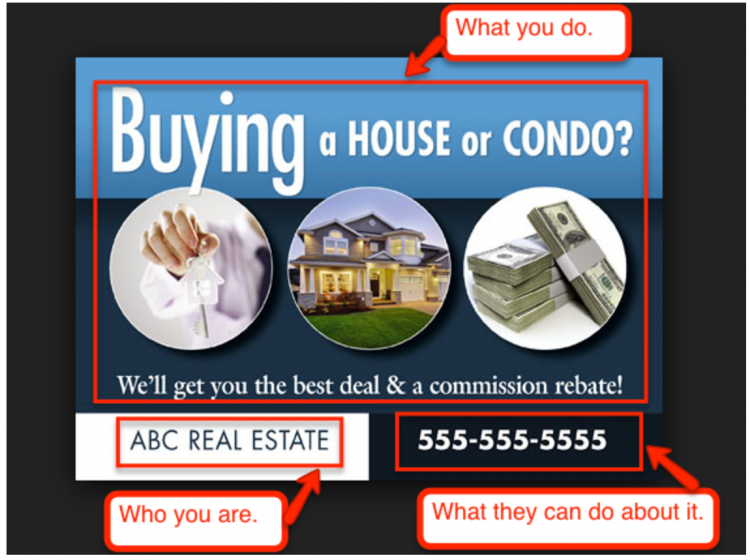 real estate direct mail layout