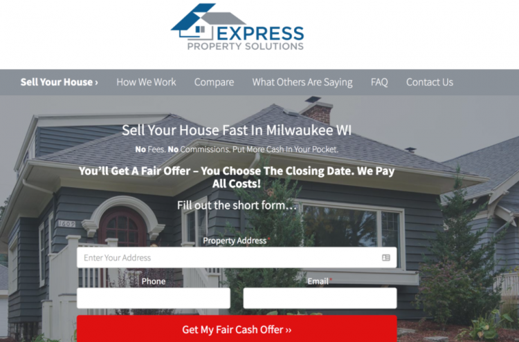 real estate website landing page template