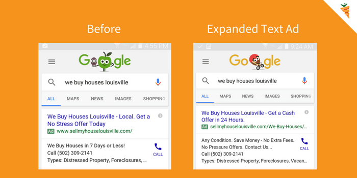 AdWords expanded text ads on mobile