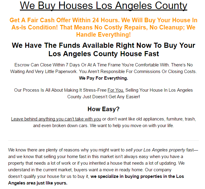 Basic SEO for real estate LA County