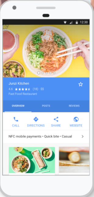 google my business on mobile