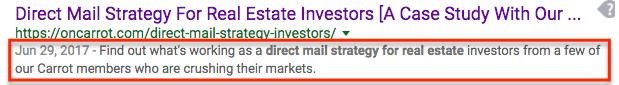 meta description example for real estate