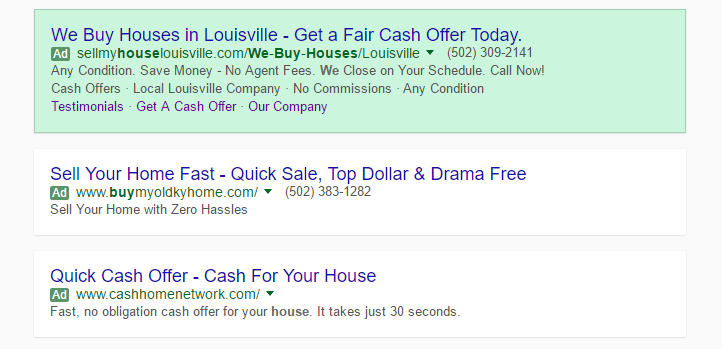 Example of Extended AdWords Characters