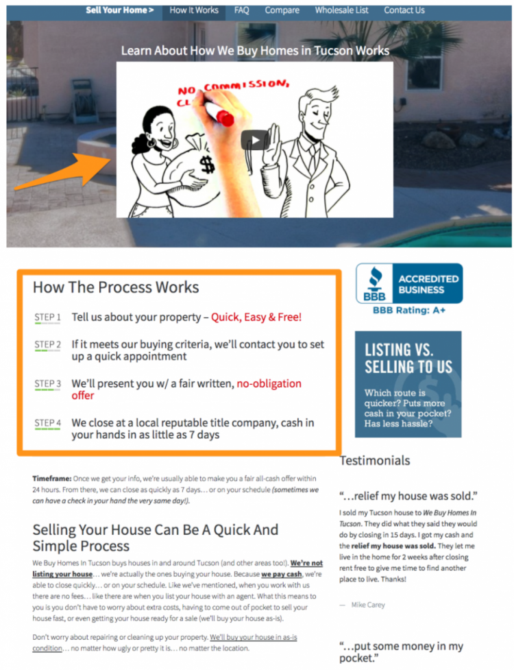 real estate investor website Tucson