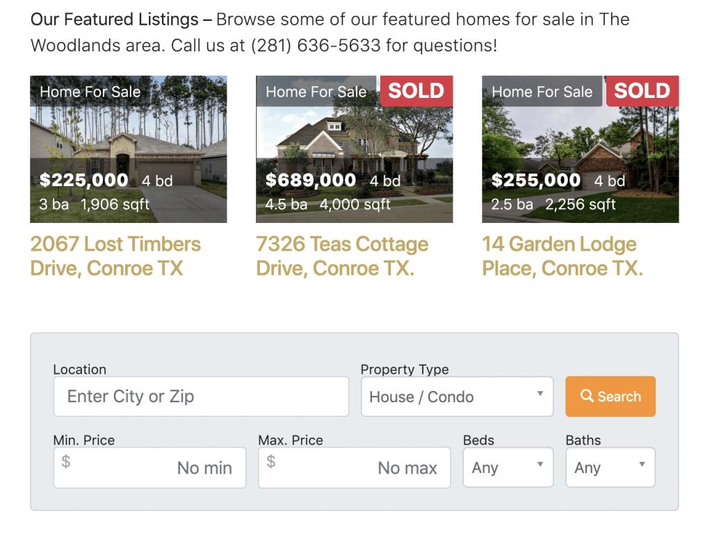 real estate agent website idx