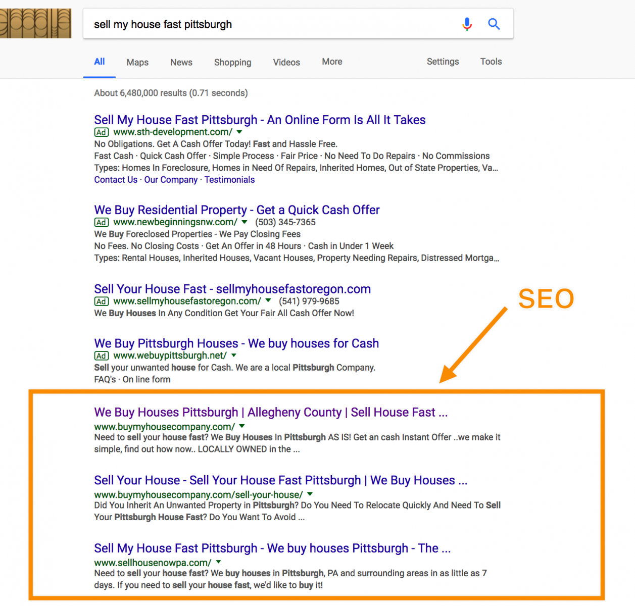 seo ranking factors for real estate page one rankings
