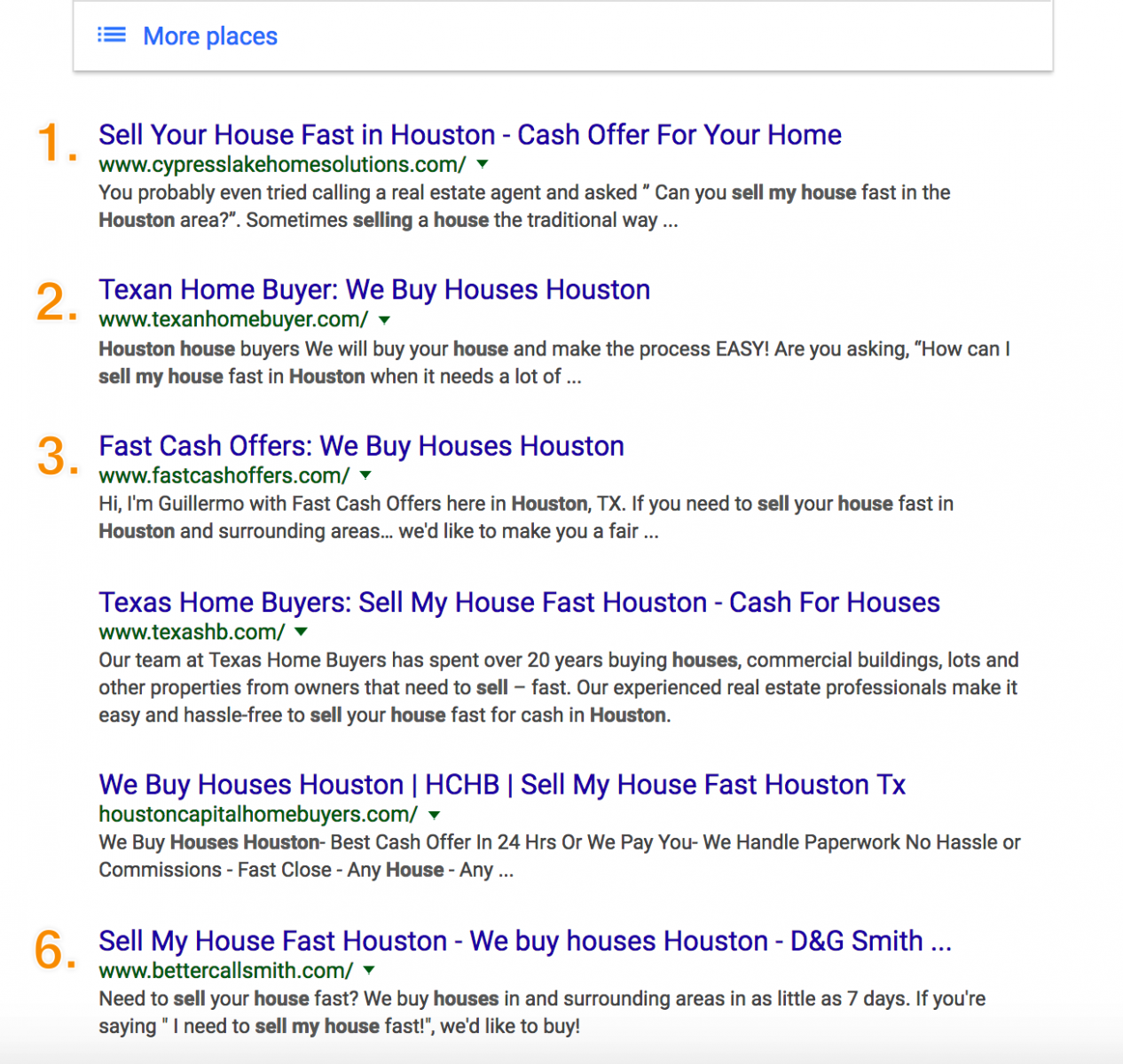 sell my house in houston search results