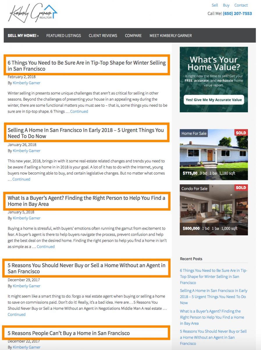 real estate blog posts