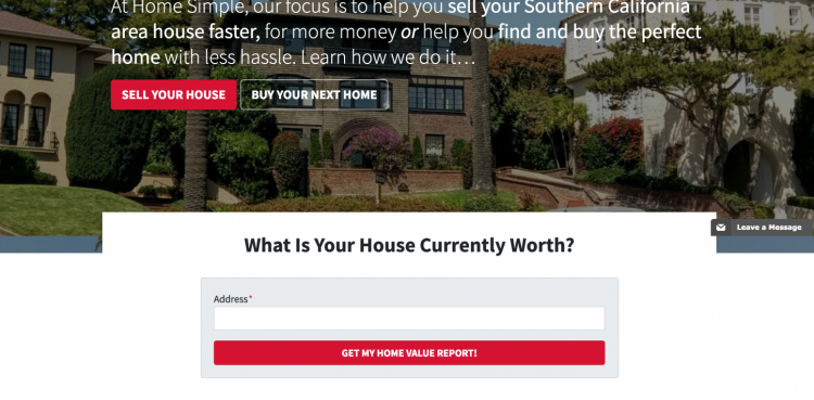 real estate agent website call to action