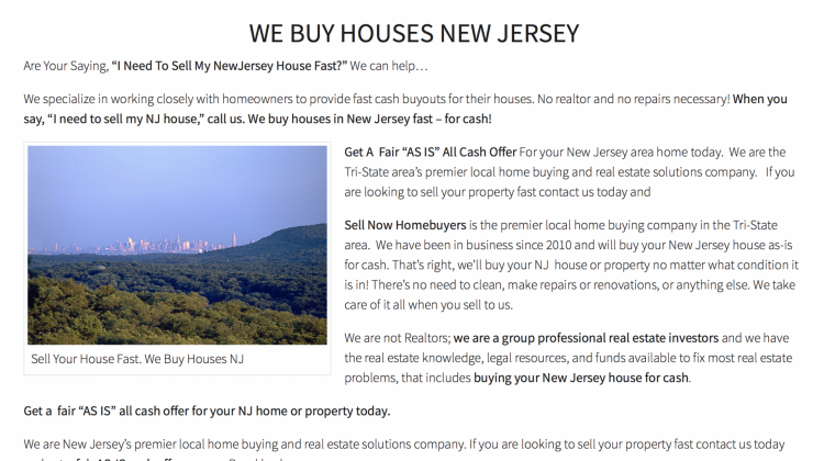 real estate landing page content