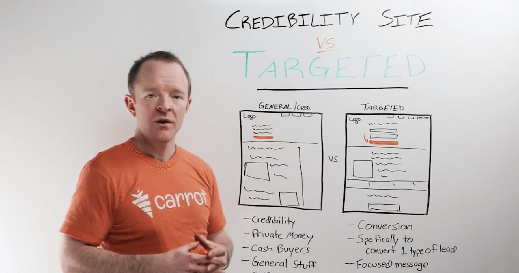 real estate websites- credibility vs targeted sites