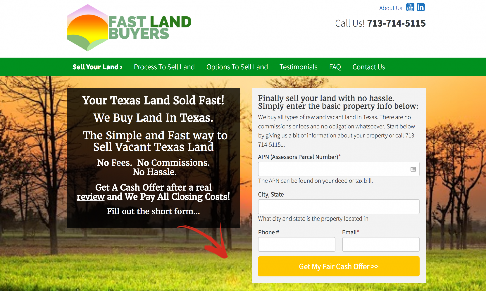land seller websites