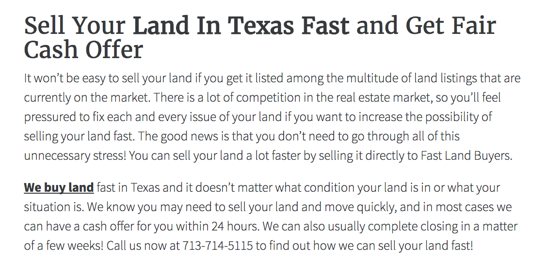Land Seller Websites Template