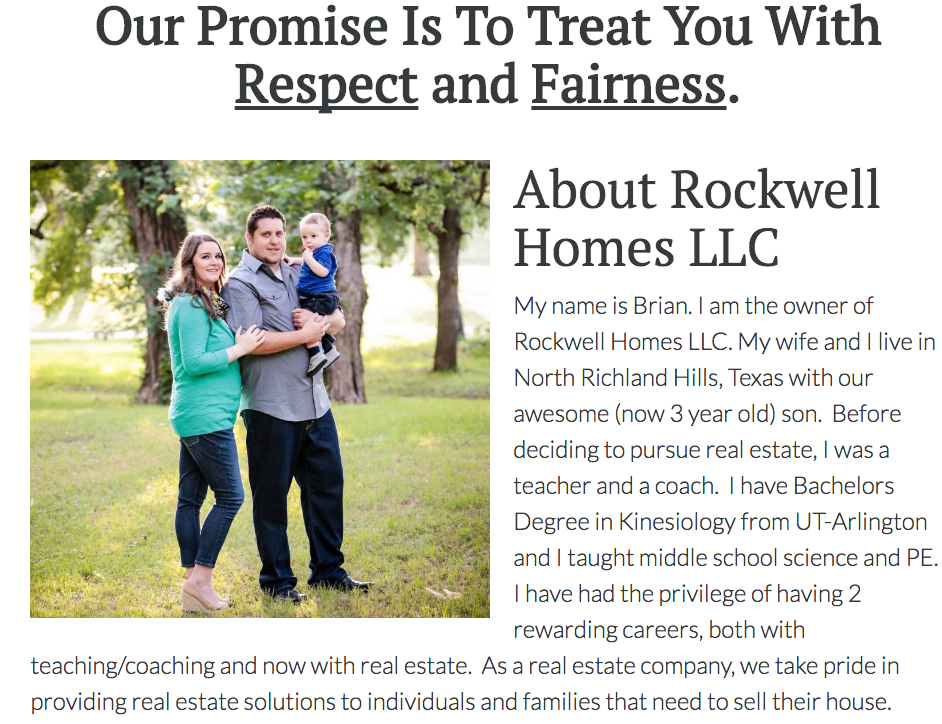 Rockwell Homes Our Company Page