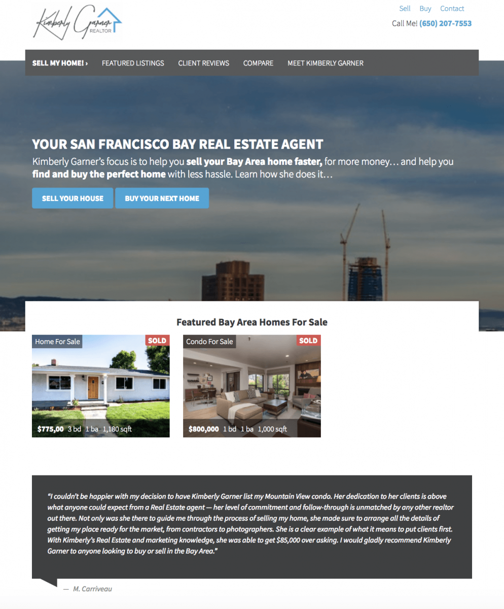 real estate agent websites homepage template
