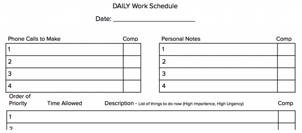 Carrot Daily Worksheet