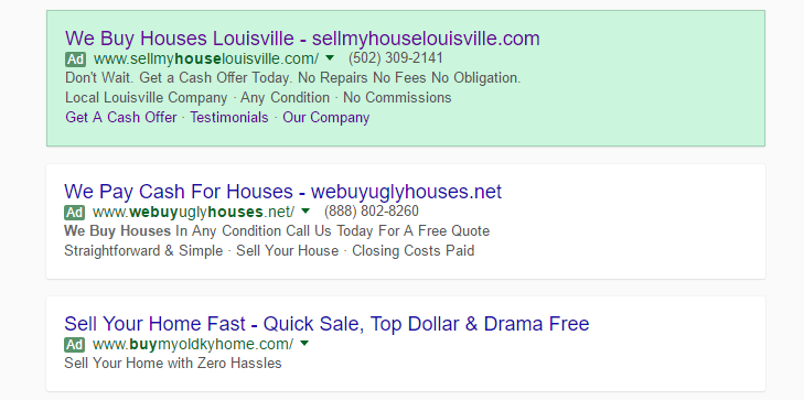 Standard AdWords Text Ad