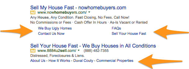 using ad extensions for google ppc real estate