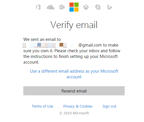 bing ads account email verify