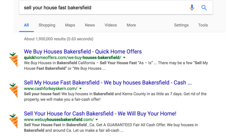 real estate keyword phrase rankings