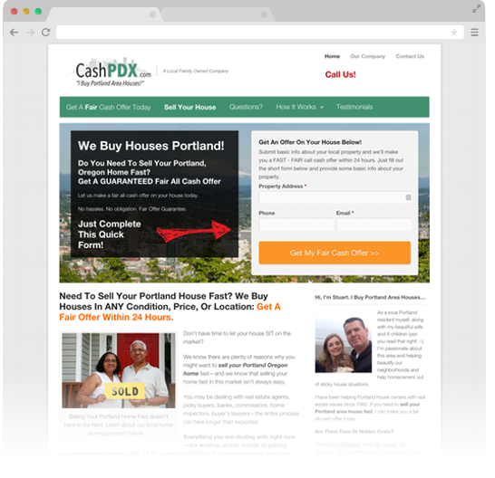 CashPDX Carrot Web Design