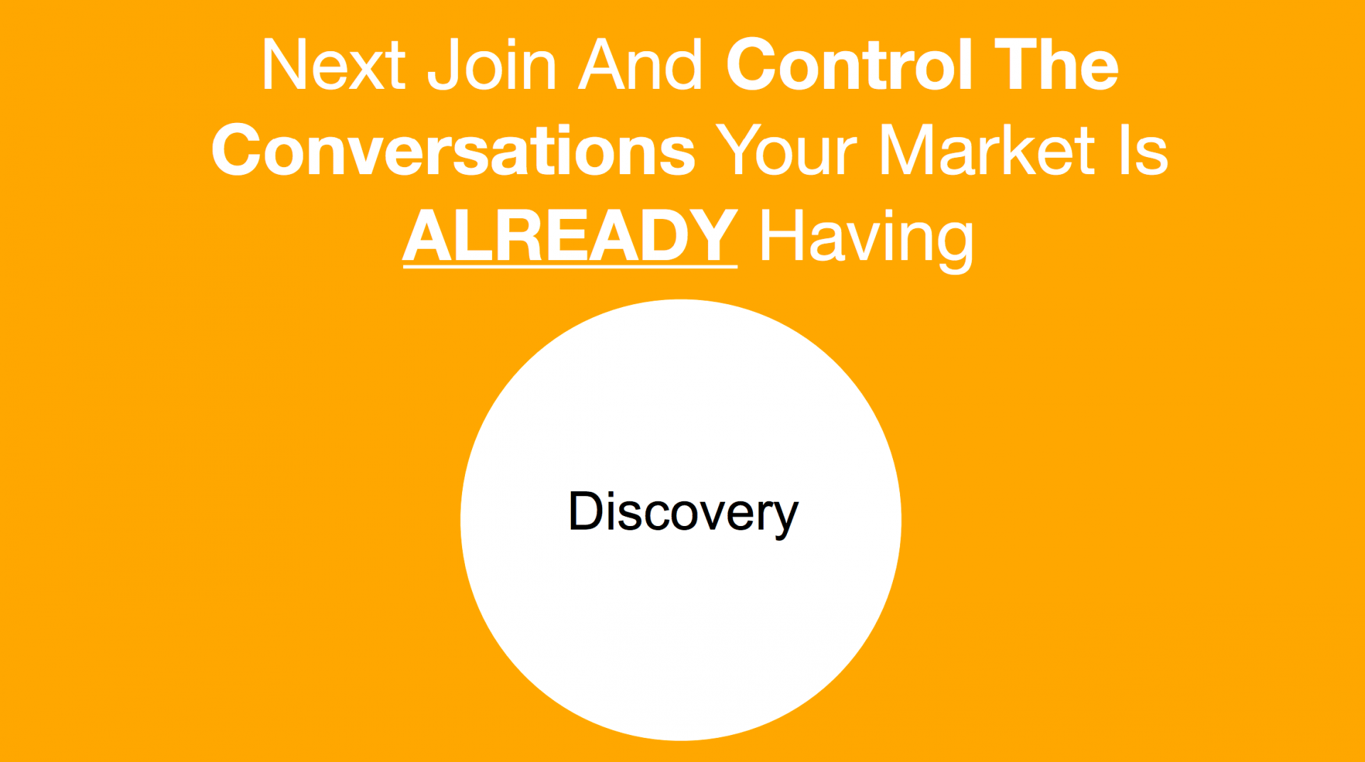 conversation marketing discovery