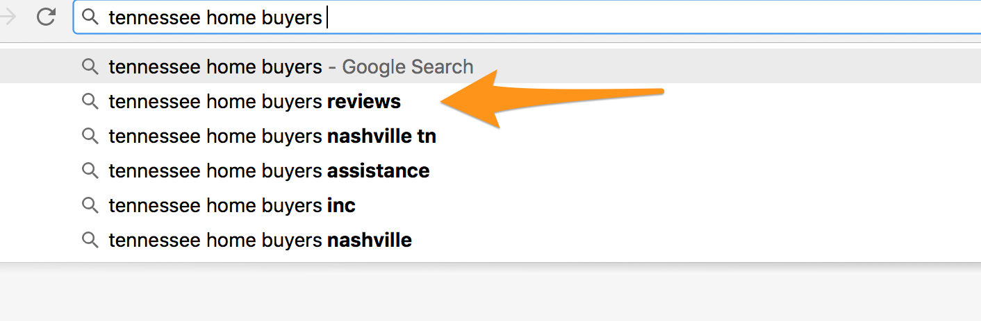 google suggest real estate search term