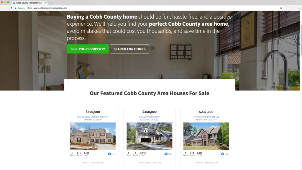 Carrot automatically pulls in select properties to market on your website