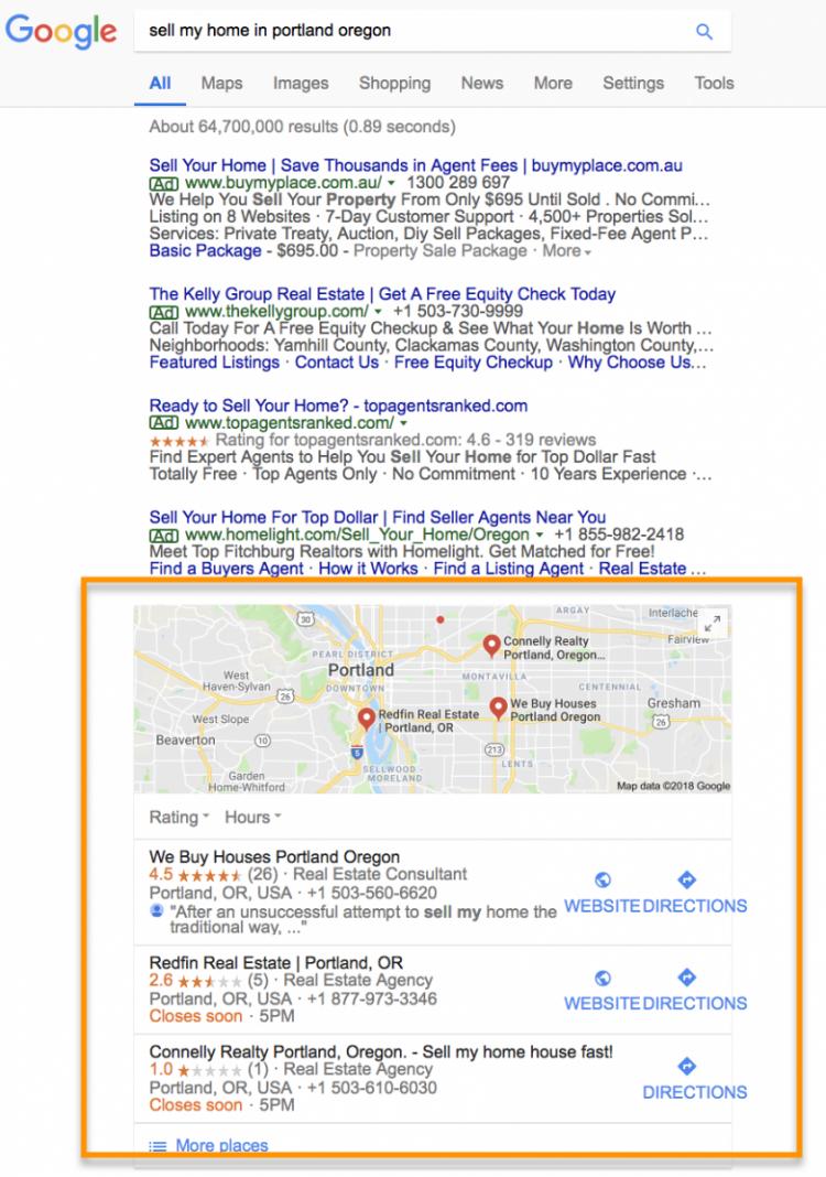 Real Estate Marketing Ideas google locations