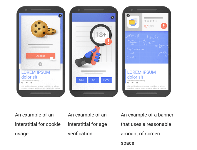 Examples of interstitials that would not be affected
