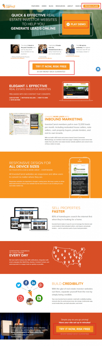 InvestorCarrot Home Page