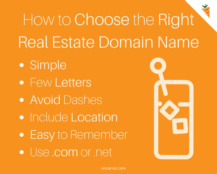 how to choose the right real estate domain name