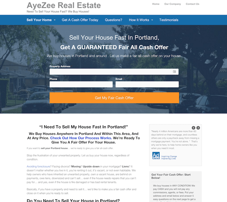 Real Estate Lead Generation: Landing Page Template