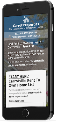 mobile responsive rent-to-own real estate website