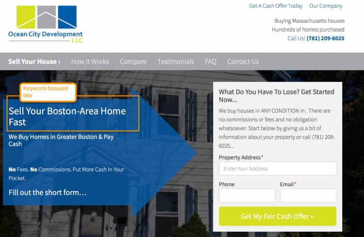 real estate marketing website optimization