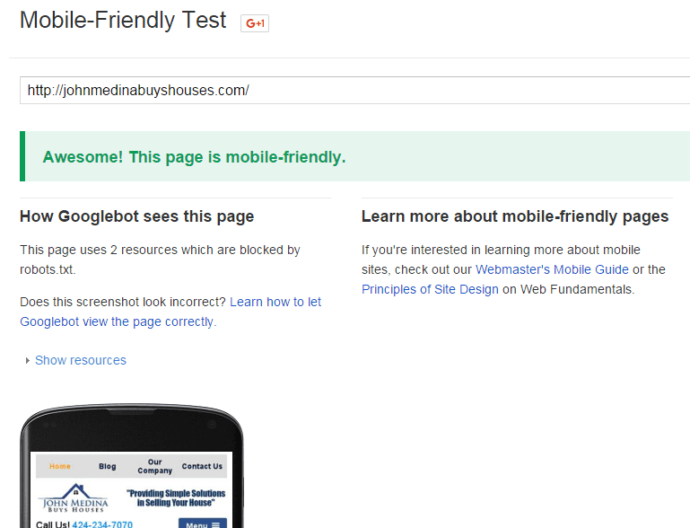 mobile-friendly-successful-test