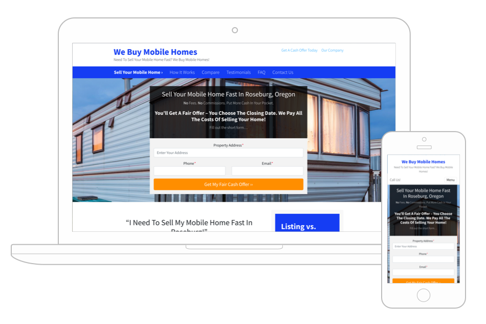 Mobile Home Seller Template