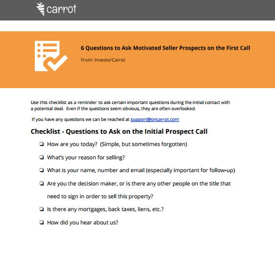 what to ask motivated house sellers on the phone