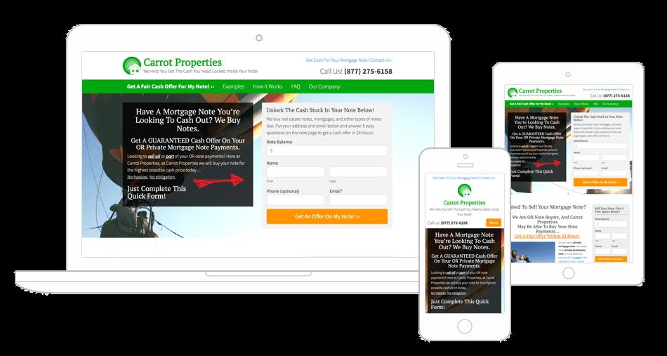 Note Buyer Websites - Carrot