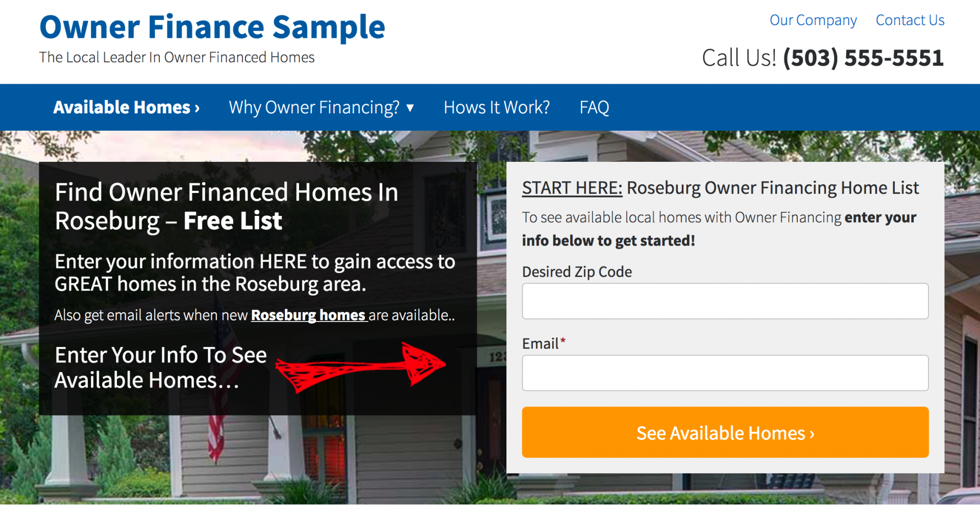 NEW Owner Finance Websites Now Live - Us zip code website