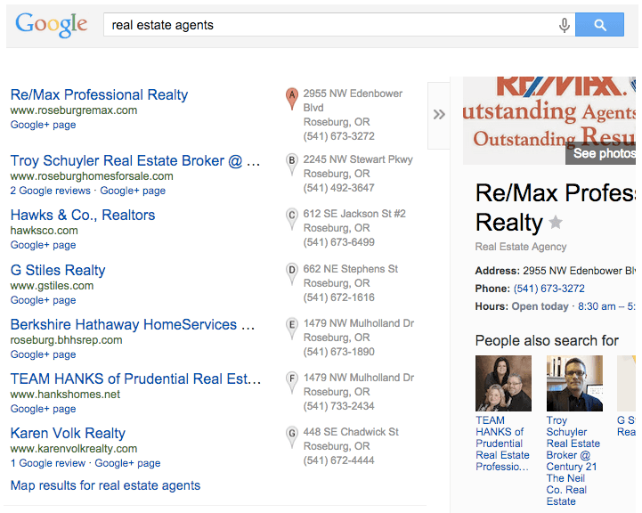 location specific seo for real estate