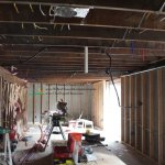 Basement rehab, electrical and plumbing