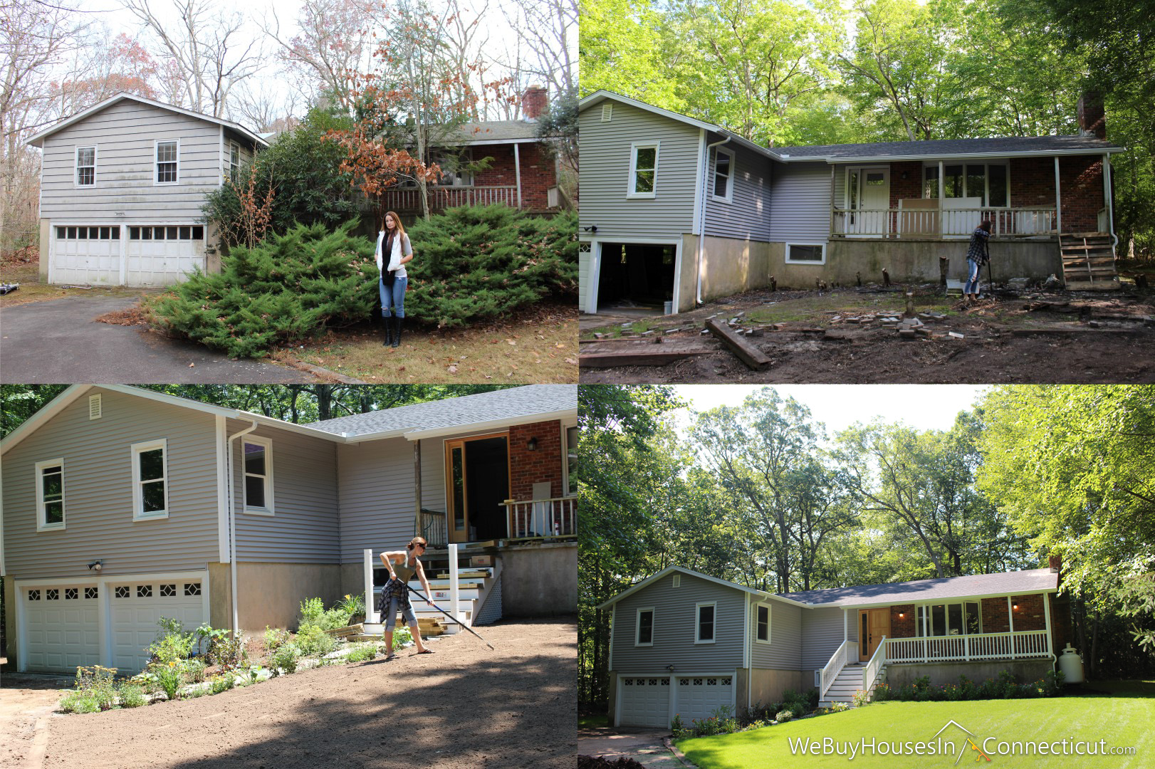 We buy houses in CT before and after rehab picture