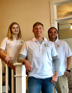 Southern Maryland Home Buyers Executive Team - from left: Emily Watts, Operations Manager; Steve Cavanaugh, President; Mac McReynolds, Acquisitions Manager