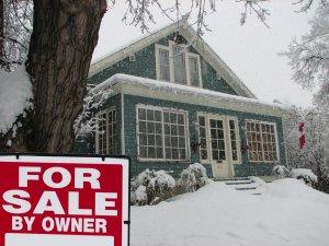 Dallas House For Sale in the winter