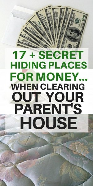 secret hiding places for money in your parent's house