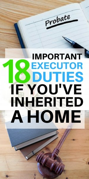 18 executor responsibilities if you've inhertied property on Long Island NY