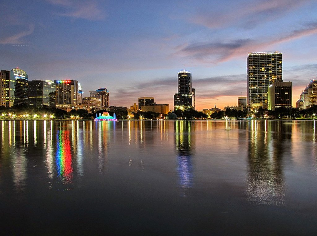 city skyline of Orlando Florida