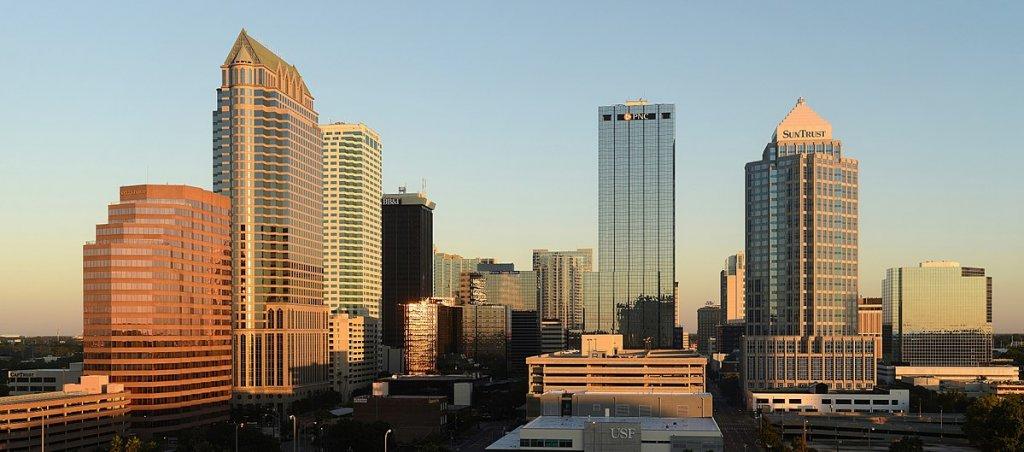the city skyline in Tampa FL